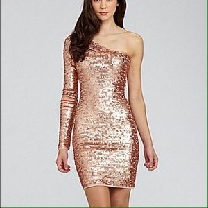 BCBG one shoulder sequin dress